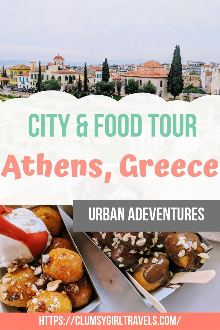 Athens is a beautifully historic city with so much to do but if you don't have a lot of time this city & food tour with Urban Adventures is the perfect way to get the most out of your visit.