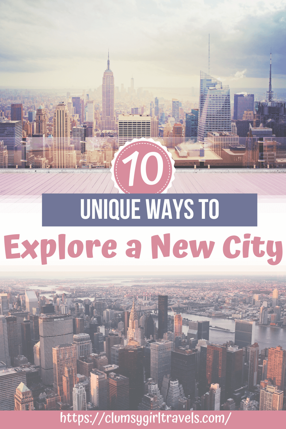 Do you want different and unique ways to explore a new city? Not to worry! Here are 10 ideas on how you can explore a new city. #exploreanewcity #visitinganewcity
