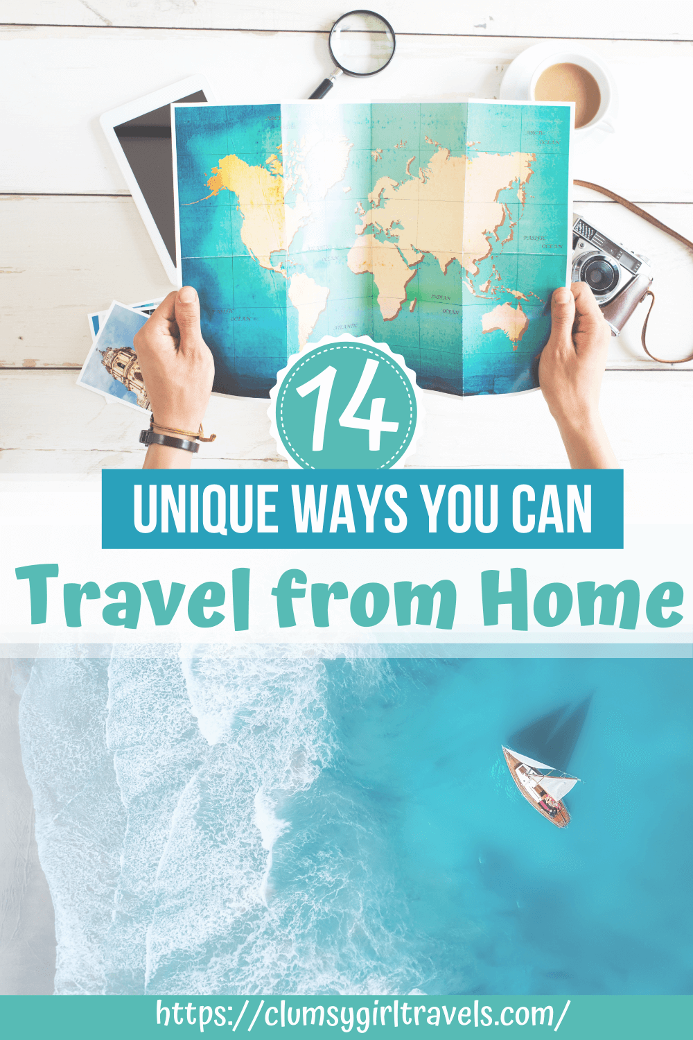 Are you stuck at home, but itching to go on vacation? Here are 14 unique ways you can travel from home. #travelfromhome #virtualtravel