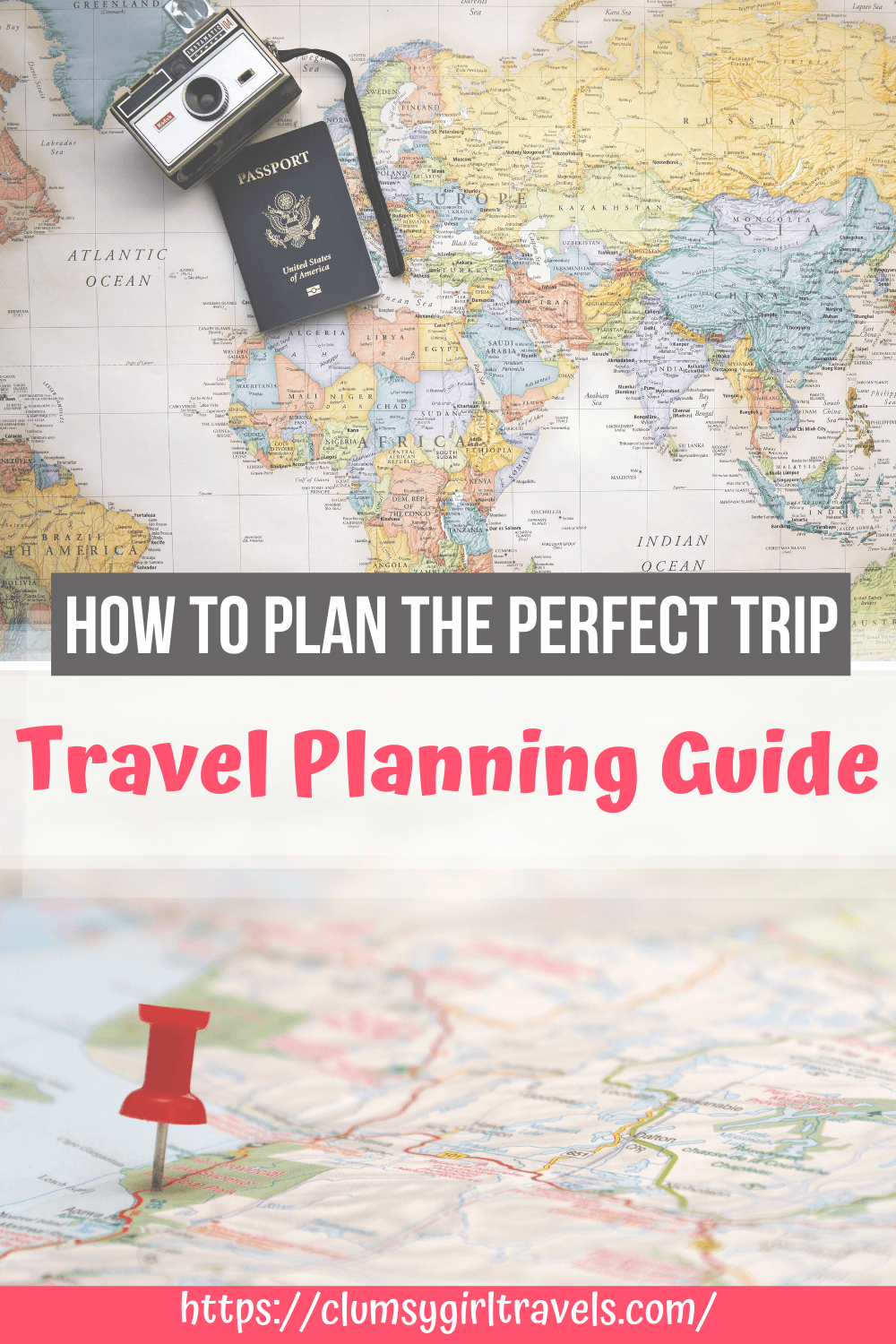 Travel planning can be overwhelming, but with this step by step trip planning guide, you will plan the perfect vacation in no time! #travelplanning #travelplanner #tripplanner