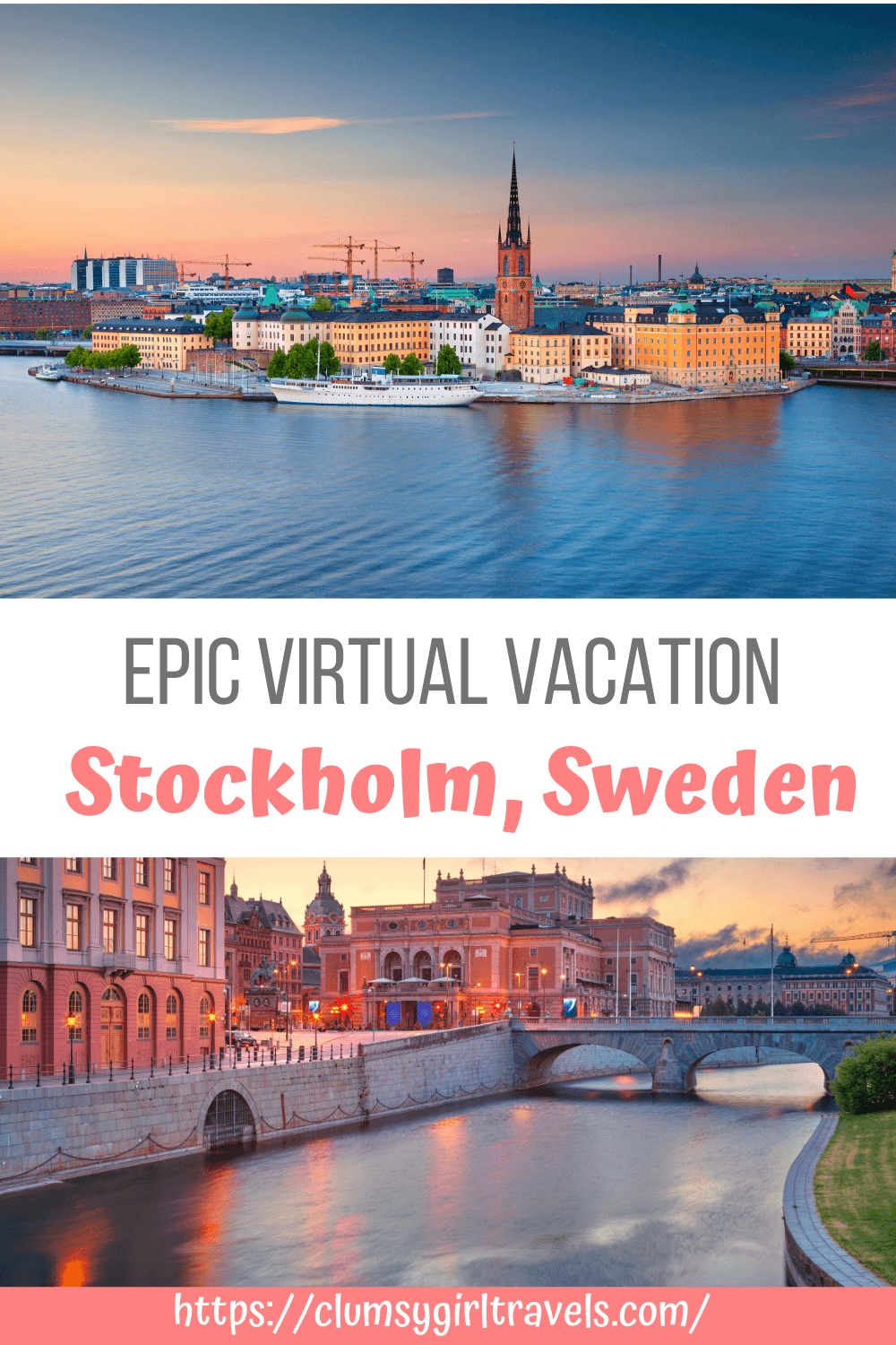 """Stockholm is a beautiful city with so much to explore and with this virtual travel guide you can """"visit"""" without actually being there. Take a Stockholm city tour, indulge in delicious Swedish food and explore some fascinating museums!"""