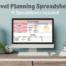 Travel Planning Spreadsheets