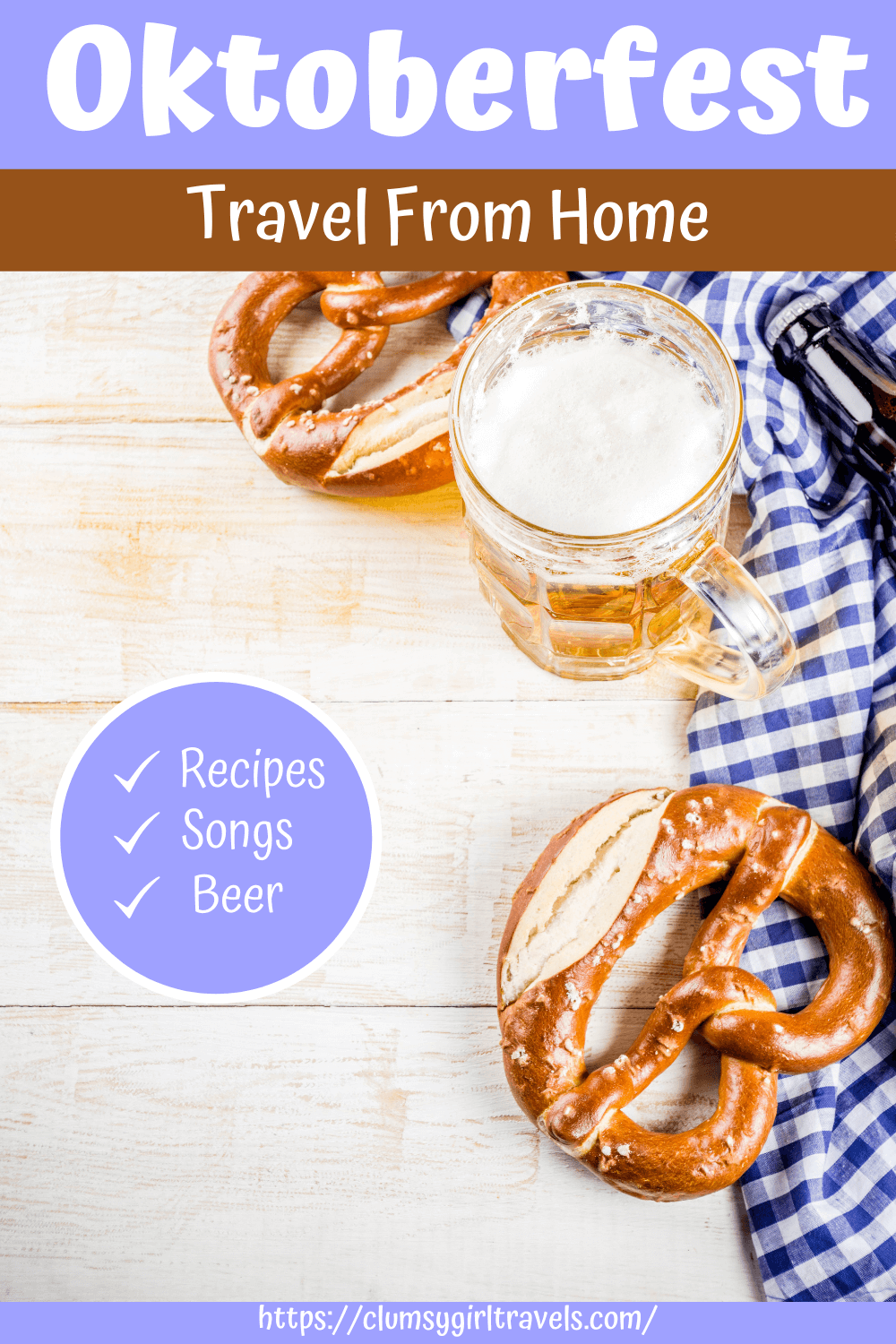 Celebrate Oktoberfest at home with this Oktoberfest virtual guide. Make recipes, drink beer and sing songs at the tops of your lungs.