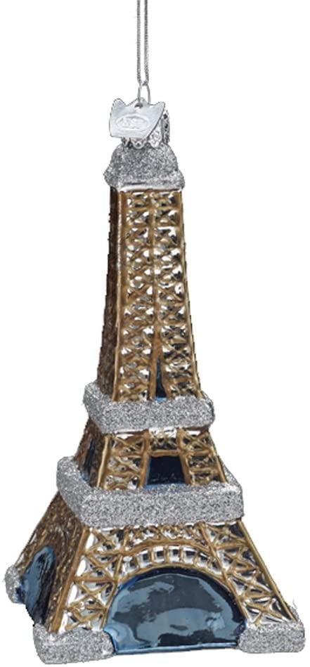 Glass Eiffel Tower Ornament