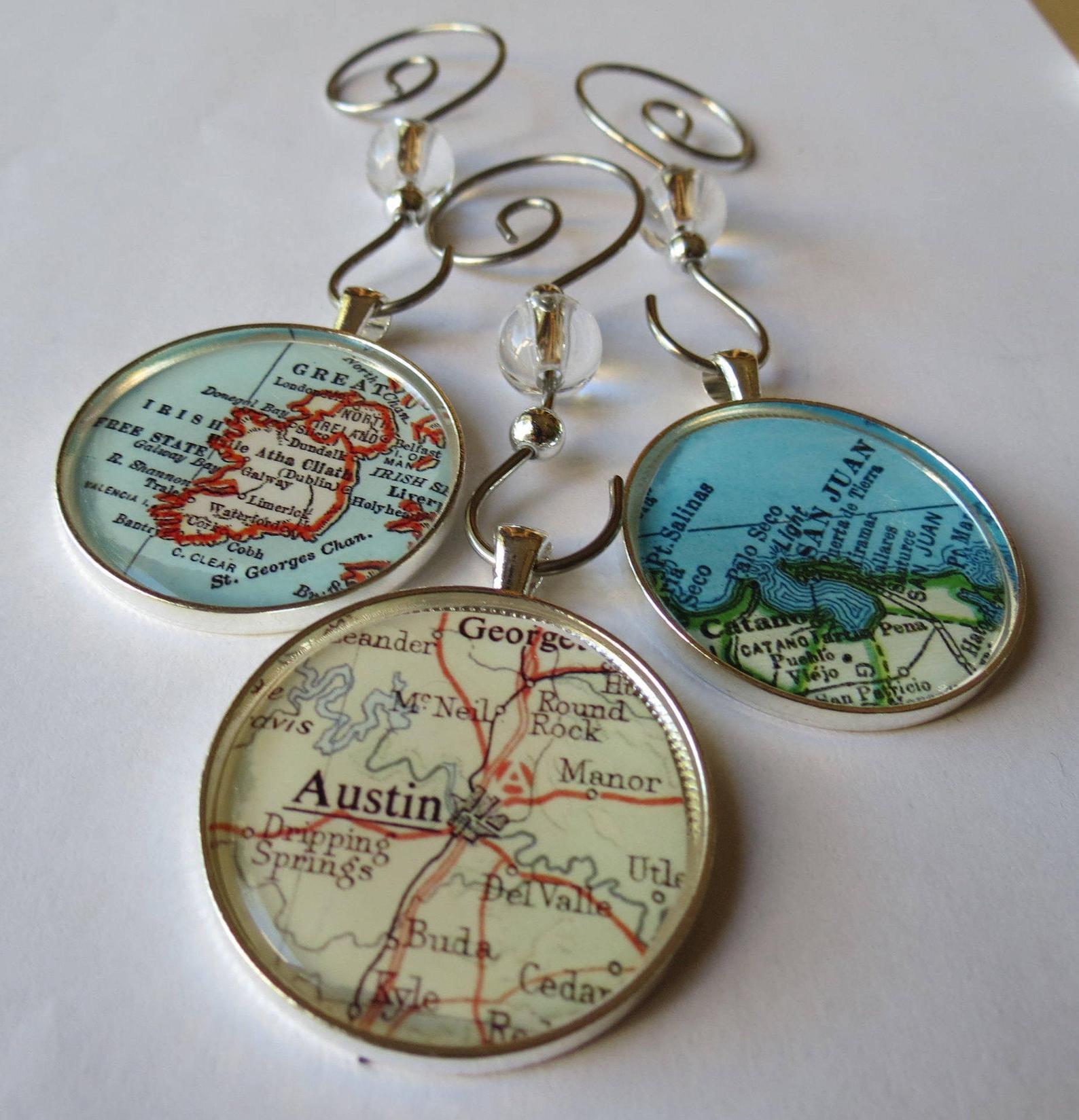 Custom Map Ornament