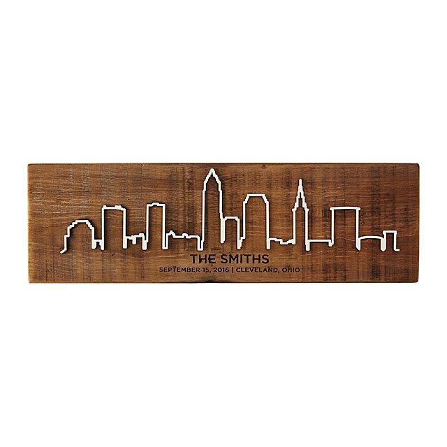 wooden cityscape