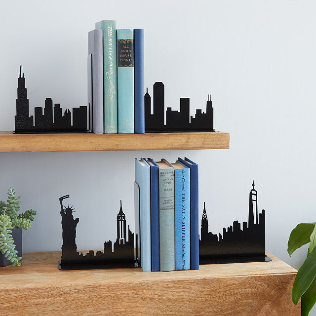 skyline bookends