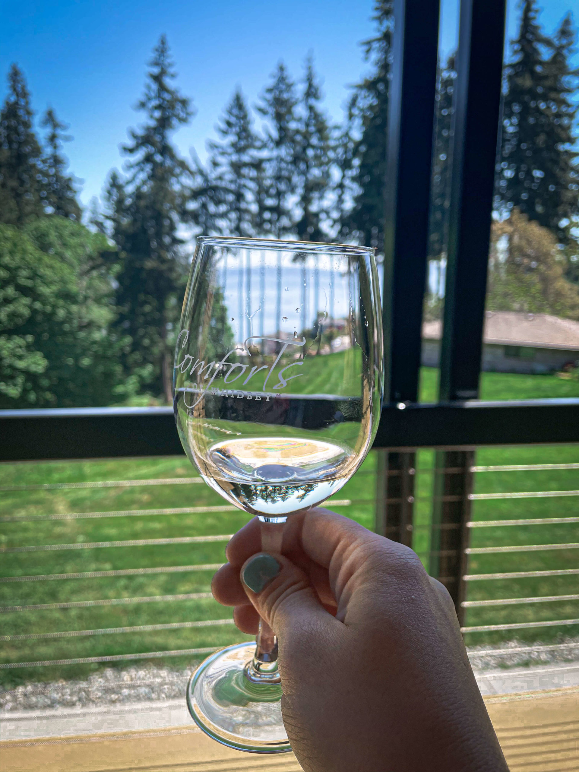 Comfort of whidbey wine tasting